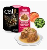 Catit Catit Fish Dinner Salmon & Grn Beans 2.8 oz