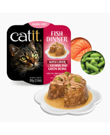 Catit Fish Dinner Salmon & Grn Beans 2.8 oz