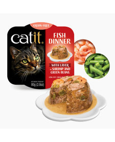 Catit Fish Dinner Shrimp & Grn Beans 2.8