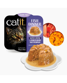 Catit Fish Dinner Crab & Pumpkin 2.8oz