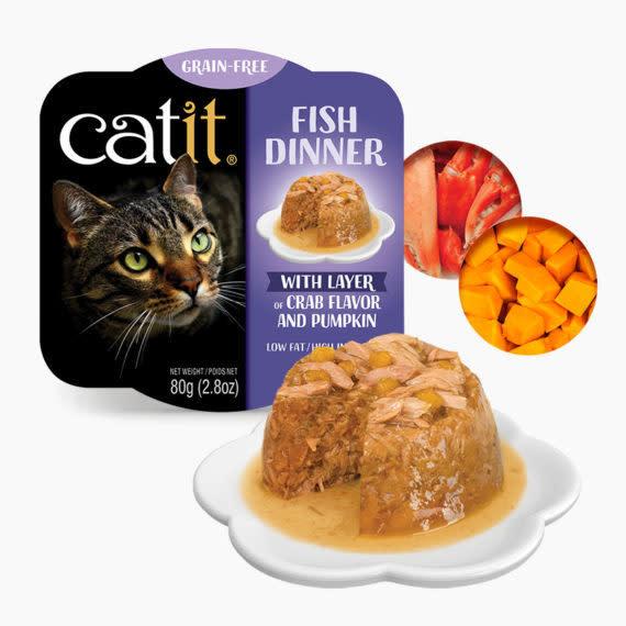 Catit Catit Fish Dinner Crab & Pumpkin 2.8oz