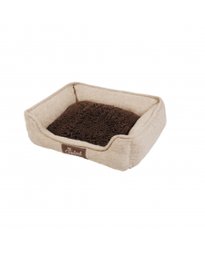 Happy Tails Island Mop Foam Cuddler Khaki Bed
