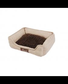 Happy Tails Island Mop Foam Cuddler Khaki Bed
