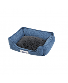 Happy Tails Island Mop Foam Cuddler Slate Blue Bed