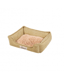 Happy Tails Island Mop Foam Cuddler Straw Bed