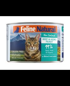 Feline Natural Cat Beef & Hoki 6 oz