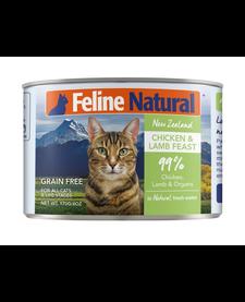 Feline Naturals Cat Chicken & Lamb 6 oz