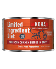 Koha Cat LID Shredded Chicken 5.5 oz Case