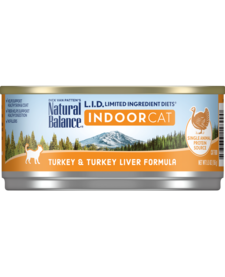 Natural Balance Cat LID Turkey/Liver 5.5 oz Case