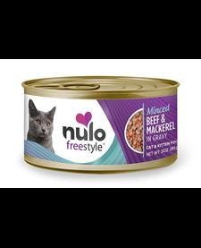 Nulo Freestyle Cat Minced Beef/Mackerel 3 oz Case