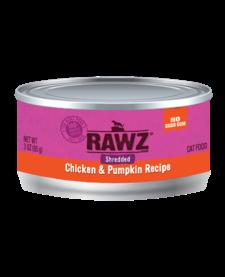 Rawz Shredded Chicken & Pumpkin 3 oz Case