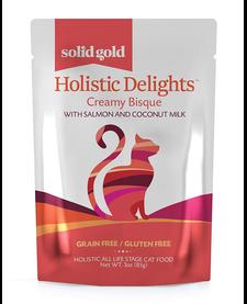 Solid Gold Cat Holistic Salmon Bisque 3 oz Case