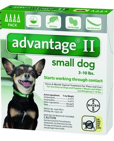 Advantage II Small Dog 3-10lb