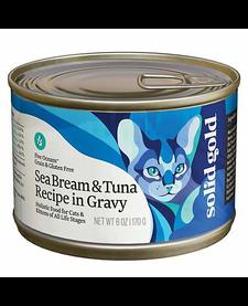 Solid Gold Cat Tuna/Seabream 6 oz Case