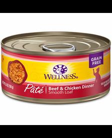 Wellness Cat Beef & Chicken Pate 5.5 oz