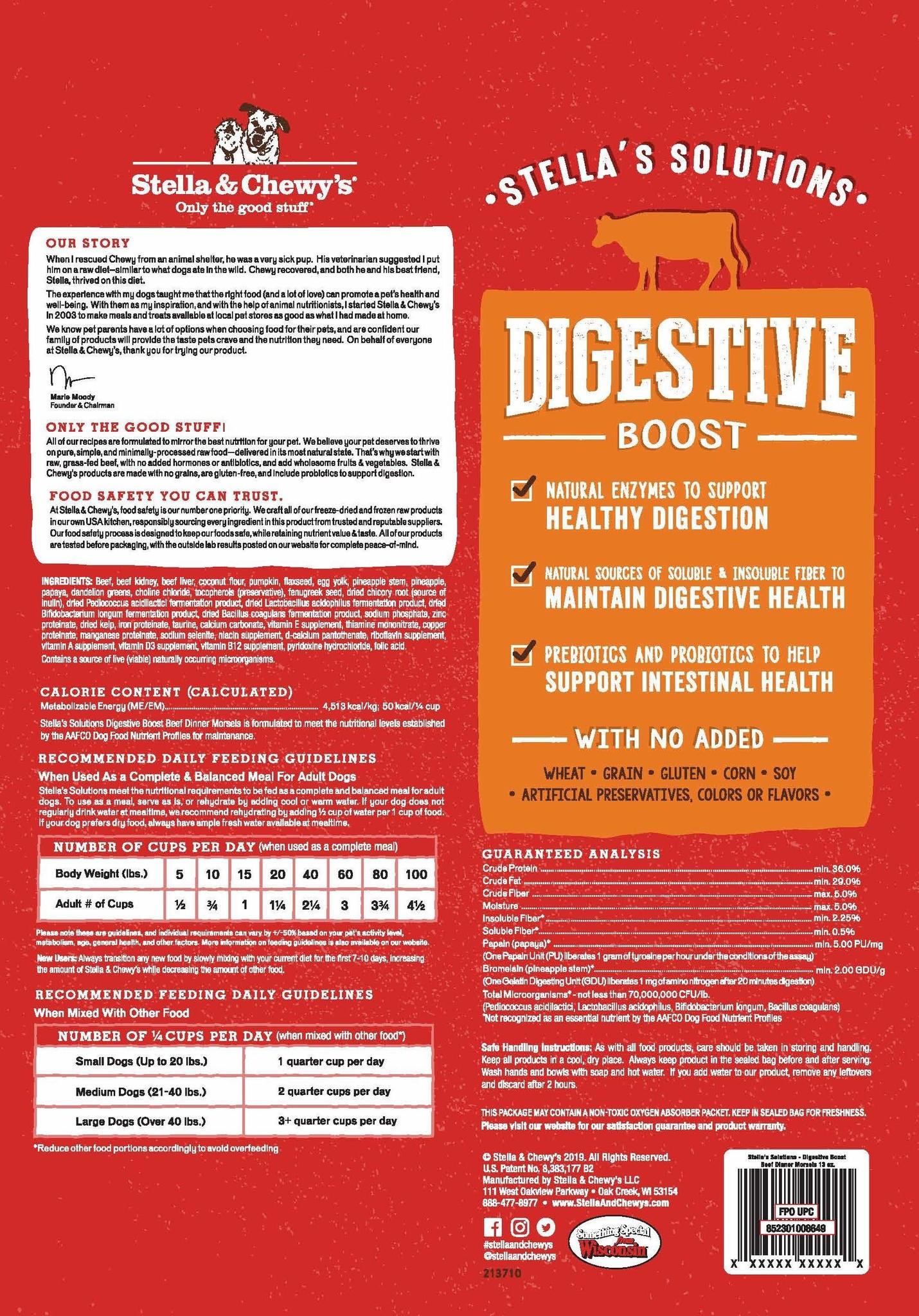 Stella & Chewy's Stella FD Digestive Beef 13 oz