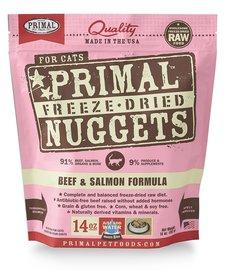 Primal Freeze-Dried Beef & Salmon Cat 14 oz