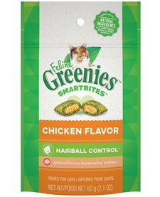 Feline Greenies Hairball Chicken 2.1 oz