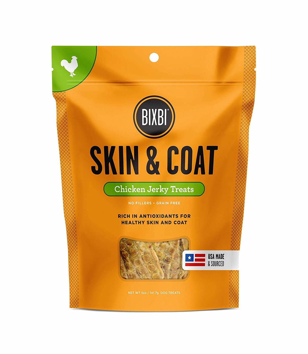 Bixbi Bixbi Skin & Coat Chicken Jerky 5oz