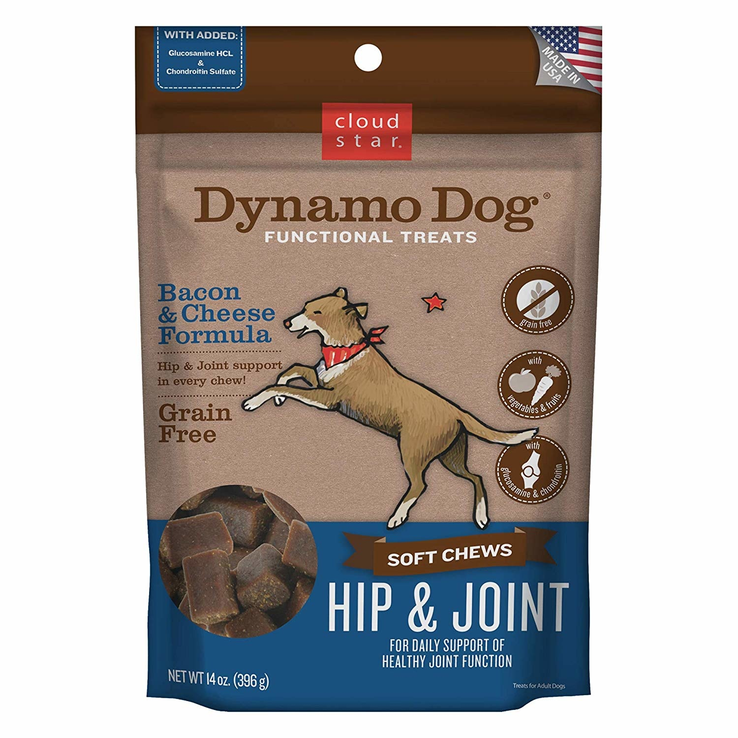 Cloud Star Dynamo Dog Hip/Joint Bacon/Cheese 14 oz