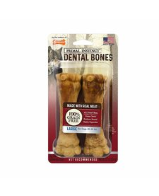Nylabone Dental Primal Meat 2 ct Grain Free