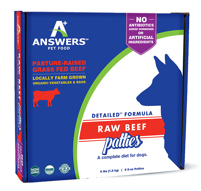 Answers Pet Food Answers Detailed Beef Patties 4 lb