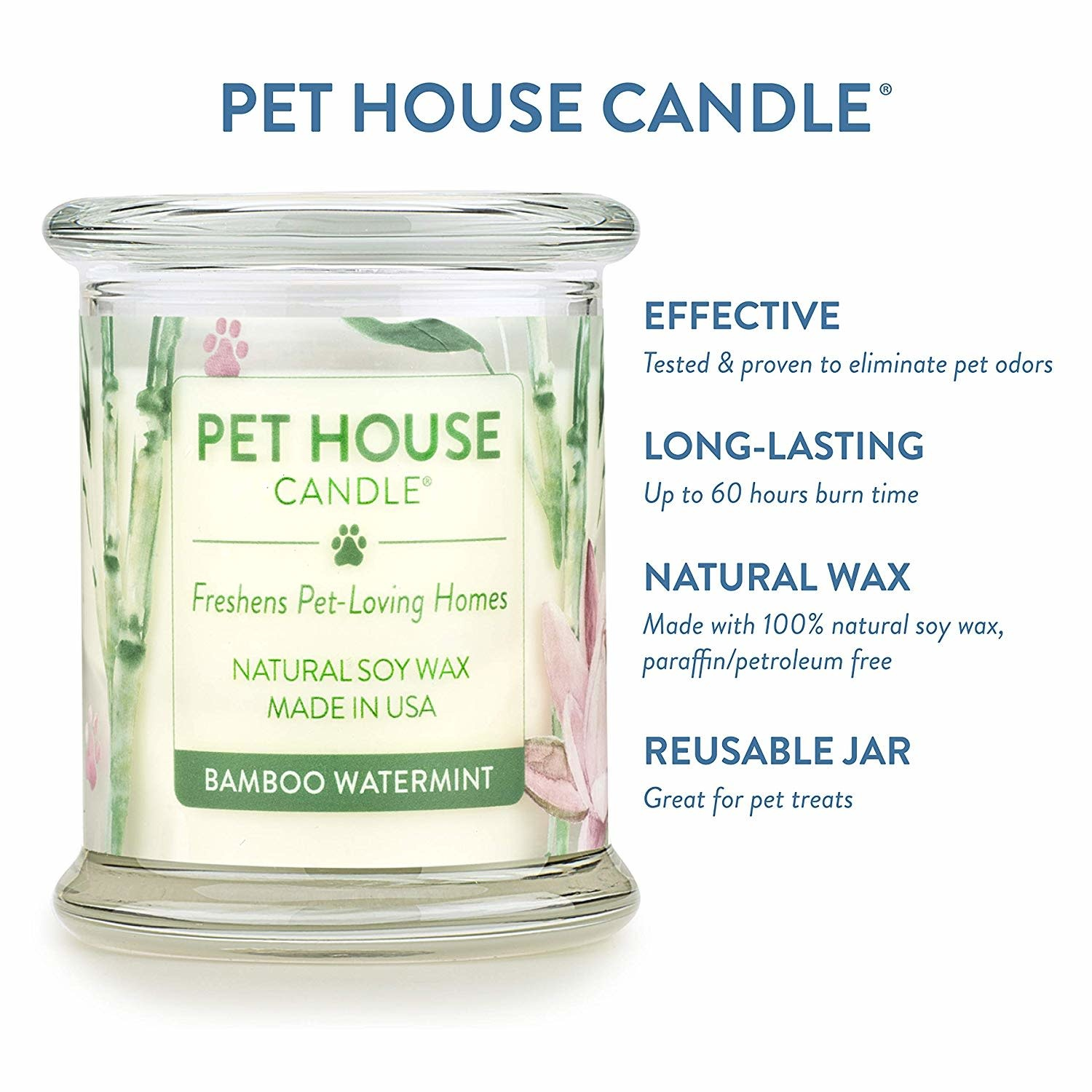 Pet House Candle Pet House Bamboo Watermint Candle