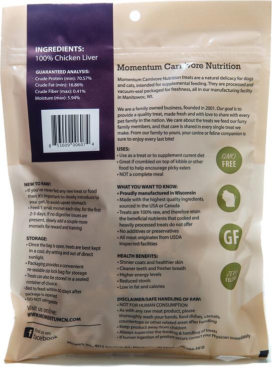 Momentum Fd Chicken Liver 1 Oz P F Pet Provisions