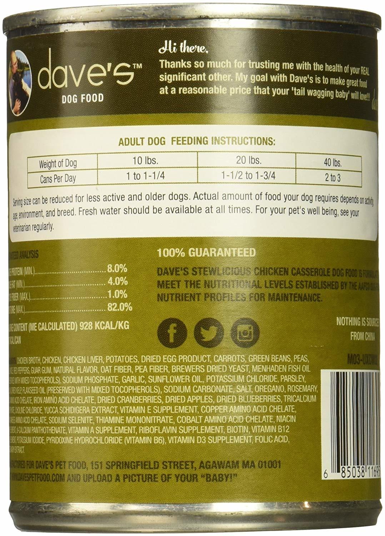Dave's Dave's Dog Chicken Casserole 13.2 oz