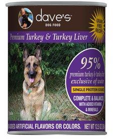 Dave's Dog 95% Turkey 13 oz