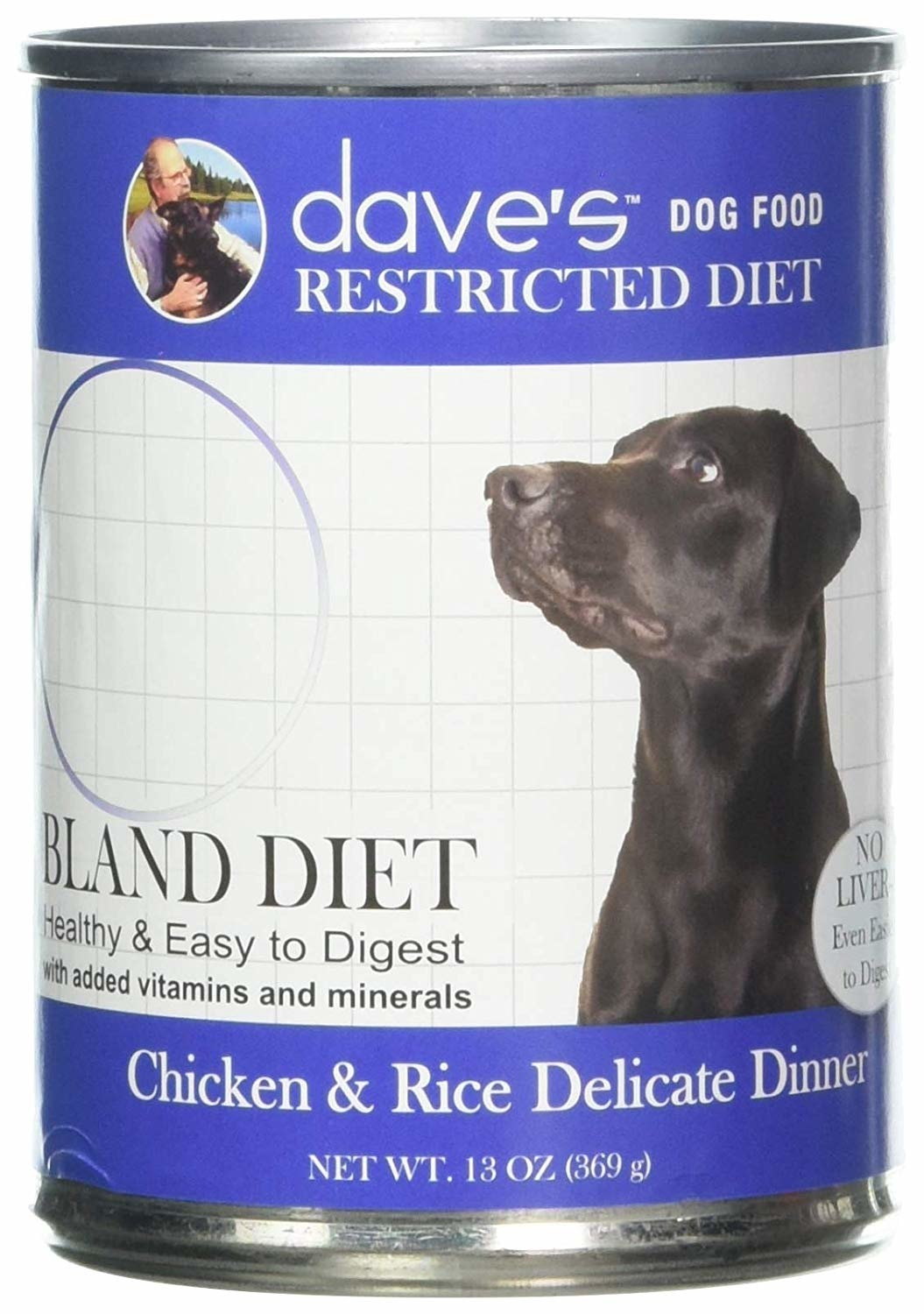Dave's Dave's Dog Chk & Rice Restricted 13 oz