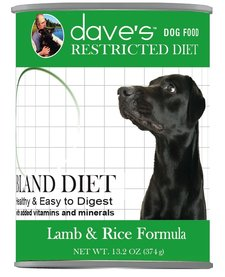 Dave's Dog Lamb & Rice Restricted 13.2 oz