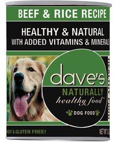 Dave's Dog Beef & Rice 13.2 oz