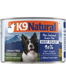 K9 Natural Dog Beef 6 oz Case