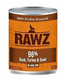 Rawz 96% Duck Turkey Quail 12.5 oz Case