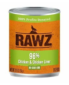 Rawz 96% Chicken/Chk Liver 12.5 oz Case