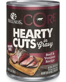 Wellness Core Hearty Cuts Beef/Venison 12.5oz