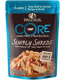 Wellness Core Simply Shreds Tuna/Beef 2.8 oz Case