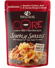 Wellness Core Simply Shreds Chk/Beef 2.8 oz