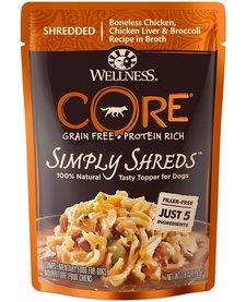 Wellness Core Simply Shreds Chicken 2.8 oz Case
