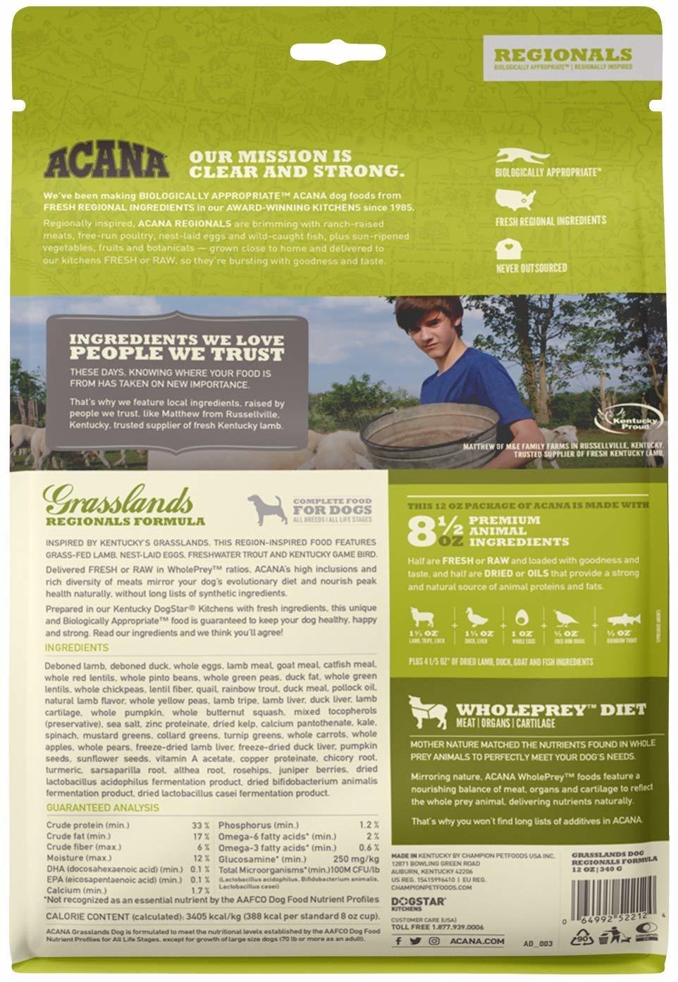 Acana (Champion) Acana Grasslands 12 oz
