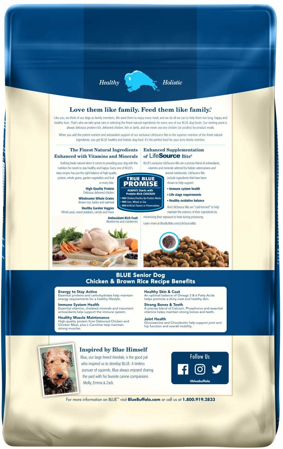 Blue Buffalo Blue Senior Chicken & Rice 30lb