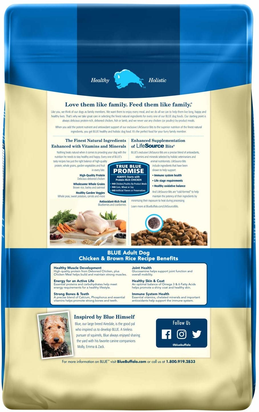 Blue Buffalo Blue Adult Chicken & Rice 15 lb