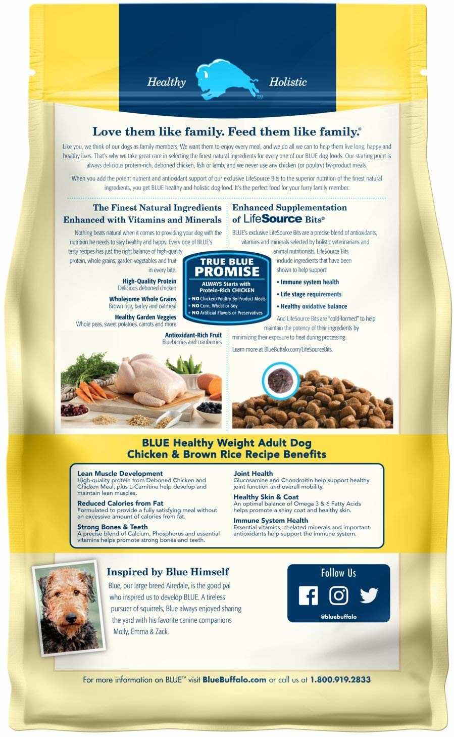 Blue Buffalo Blue Healthy Weight Chicken/Rice 6lb