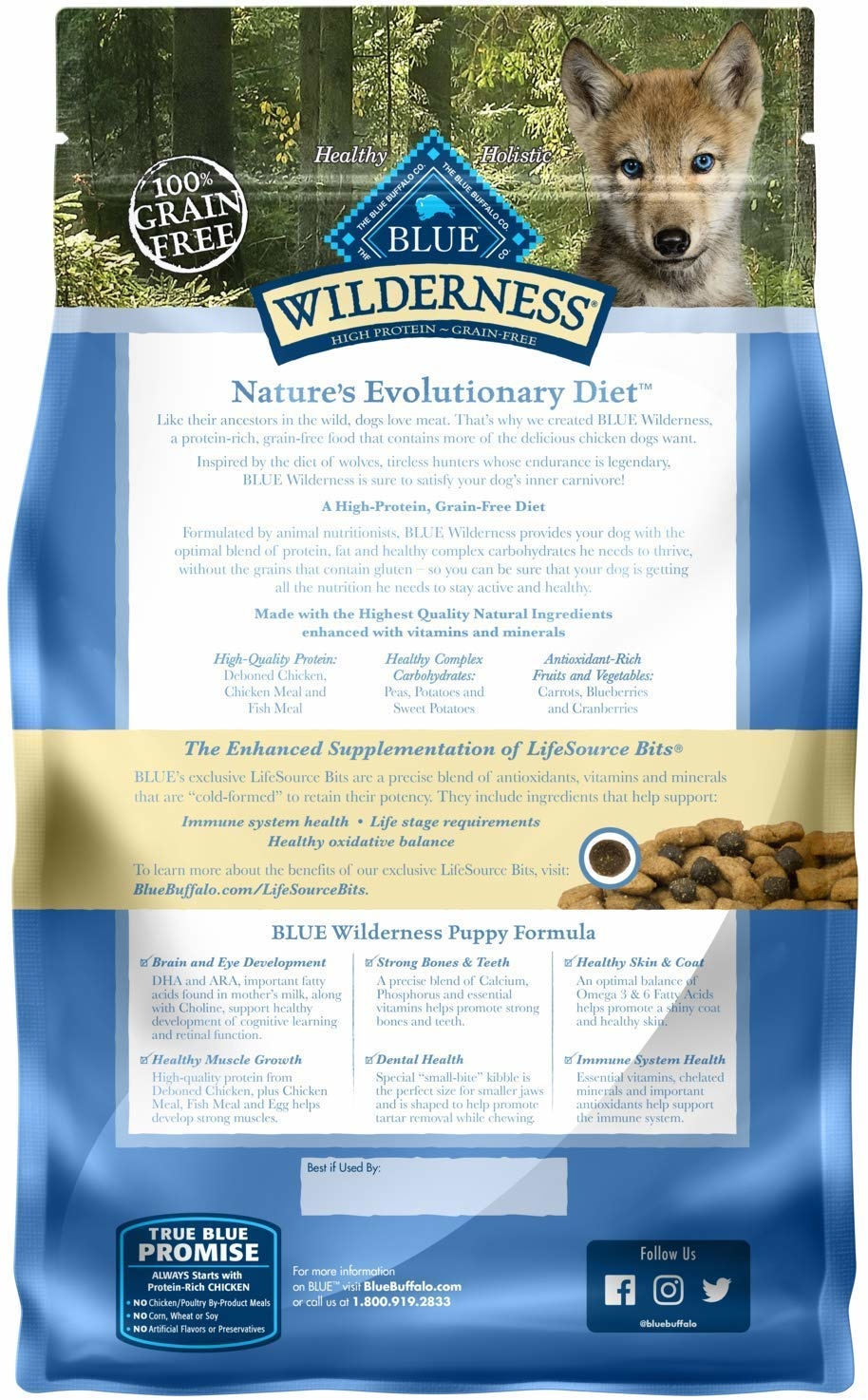 Blue Buffalo Blue Wilderness Puppy Chicken 4.5lbs