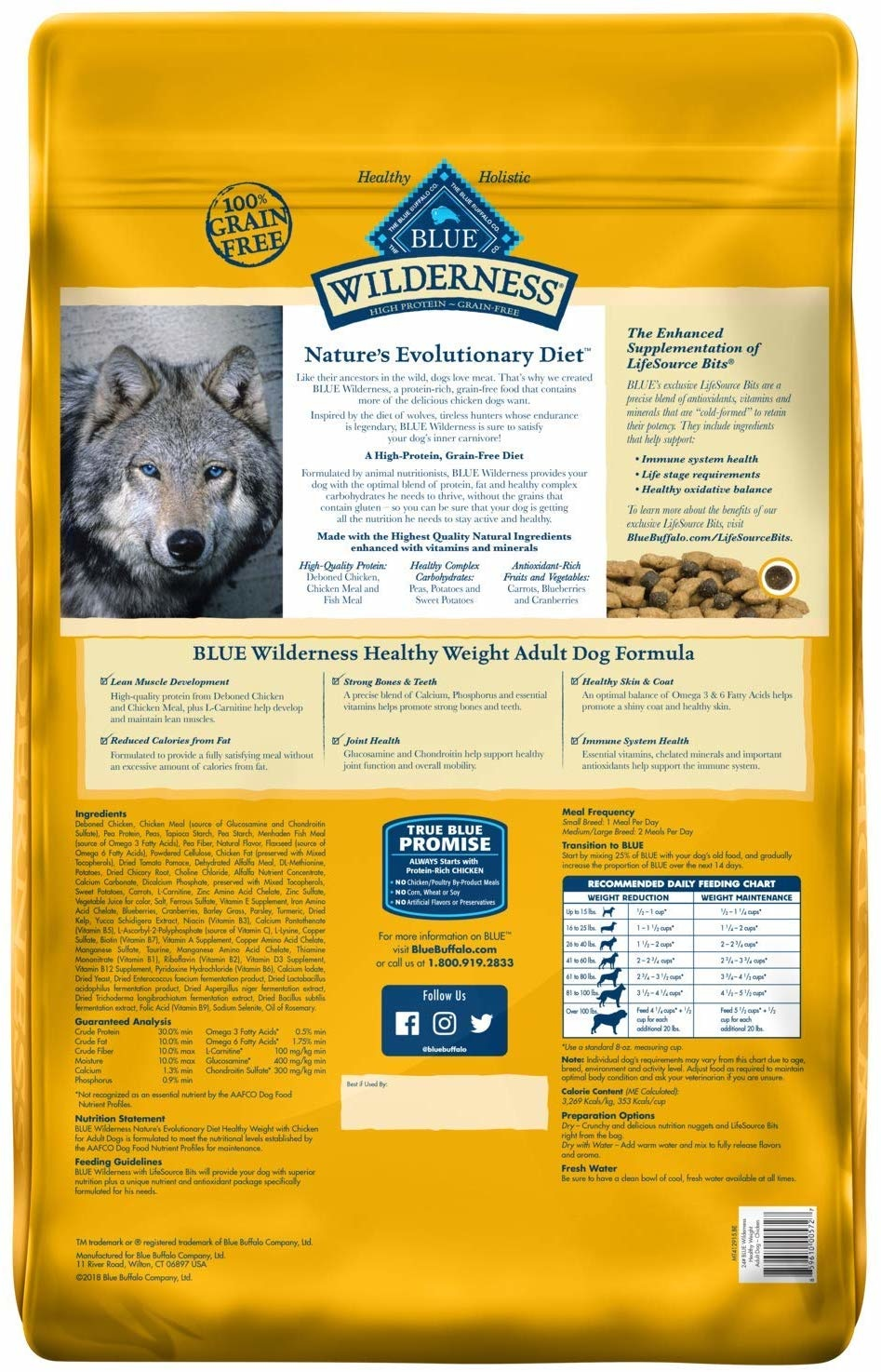 Blue Buffalo Blue Wild Healthy Weight Ckn 24lb