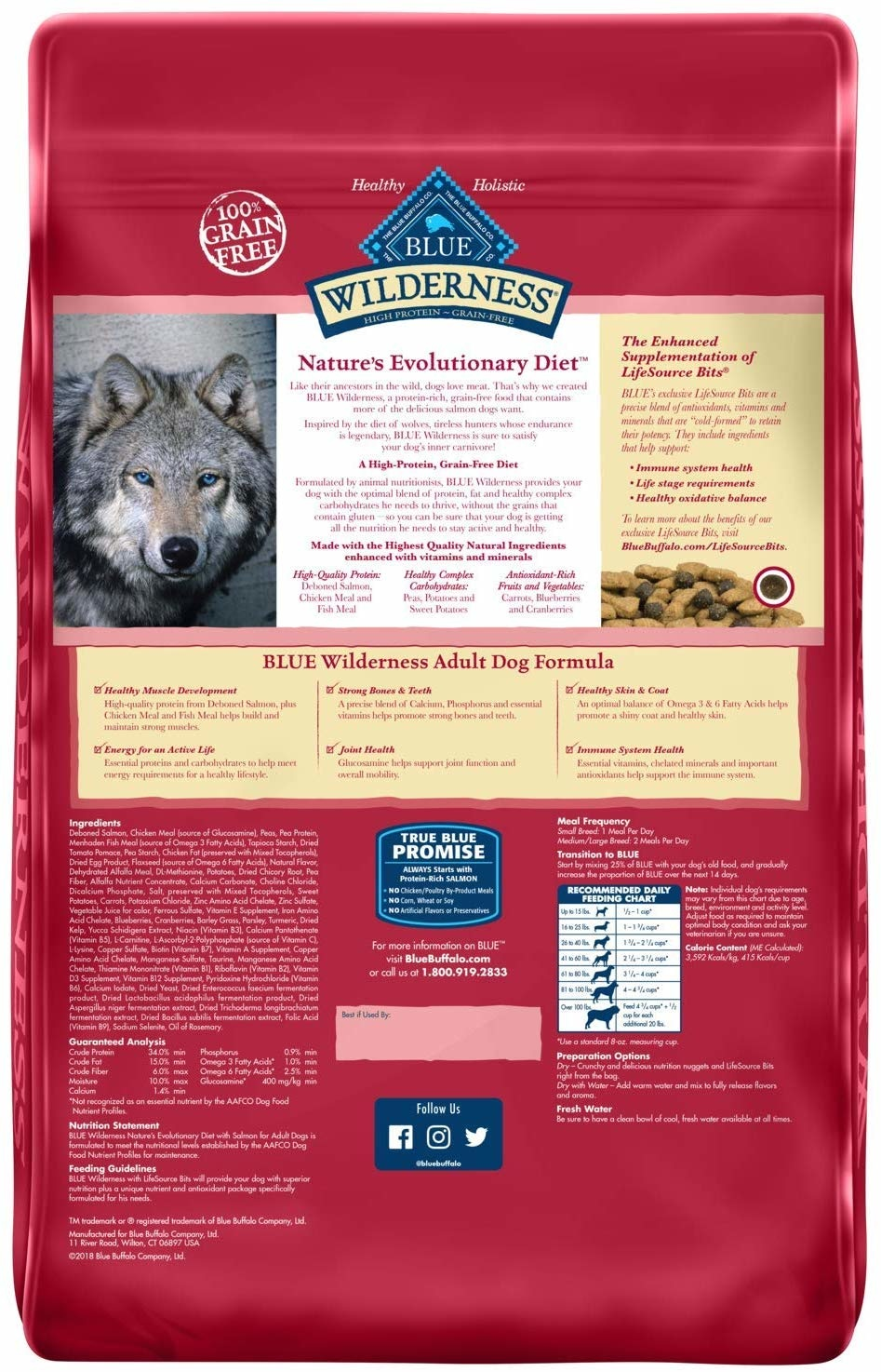 Blue Buffalo Blue Wilderness Salmon 11lb