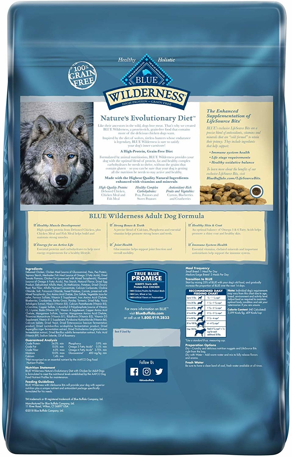 Blue Buffalo Blue Wilderness Chicken 11lb