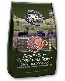 NutriSource Dog GF Small Bites Woodland 15 lb