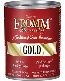 Fromm Gold Beef & Barley Pate 12.5oz Case